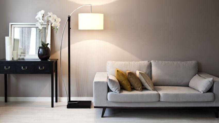 lamparas altas de salon promoción obra nueva