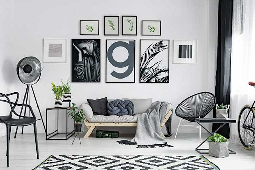 ideas para decorar las paredes de casa cuadros diferentes promoción obra nueva